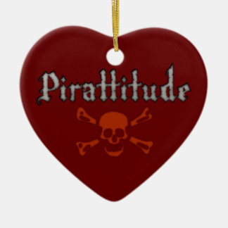 Pirattitude Blood Jolly Roger Christmas Ornaments