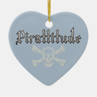Pirattitude Bone Jolly Roger Christmas Ornament