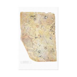 Piri Reis' World Map Canvas Poster Canvas Print