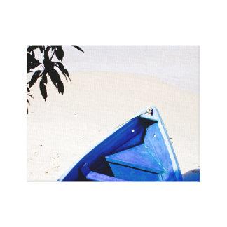 Pirogue - Blue Boat - Canvas Art