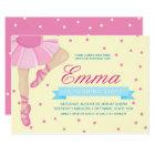 Pirouette Pink Ballerina Birthday Invitation