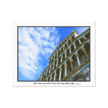 Pisa Cathedral with Love Quote Canvas Print