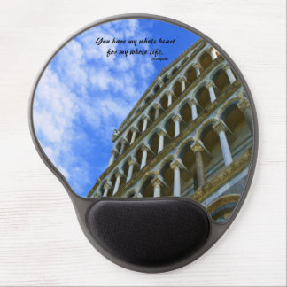Pisa Cathedral with Love Quote Gel Mouse Pad
