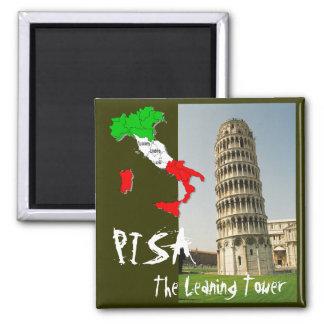 Pisa Square Magnet