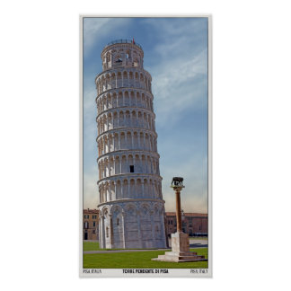 Pisa - The Leaning Tower Poster
