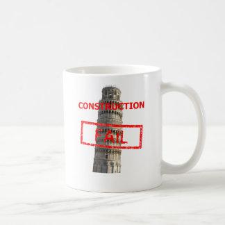 Pisa tower construction fail coffee mug