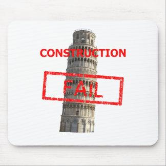 Pisa tower construction fail mouse pad