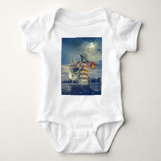 Pisa Tower Koala Bear Funny Baby Bodysuit