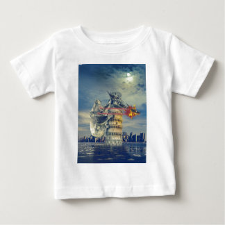 Pisa Tower Koala Bear Funny Baby T-Shirt
