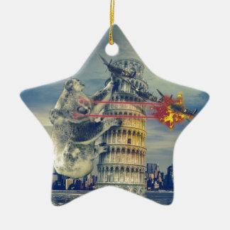 Pisa Tower Koala Bear Funny Christmas Ornament