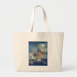 Pisa Tower Koala Bear Funny Large Tote Bag