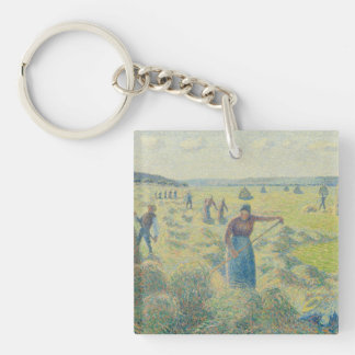 Pisarro Artwork Single-Sided Square Acrylic Key Ring