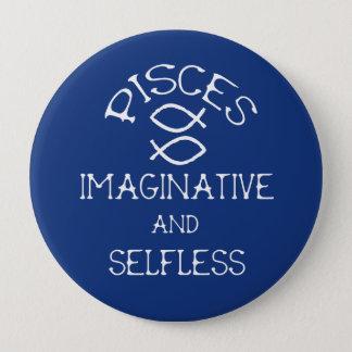Pisces 10 Cm Round Badge