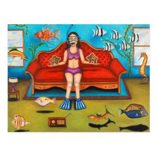 Pisces #3 postcard