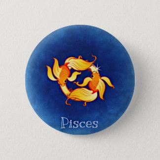 Pisces 6 Cm Round Badge