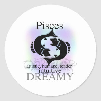 Pisces About You Round Sticker