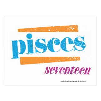 Pisces Aqua Postcard