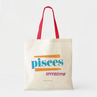 Pisces Aqua Tote Bag