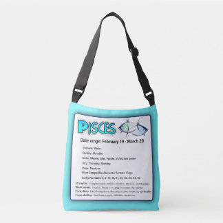 Pisces Astrological Horoscope Zodiac Tote Bag