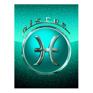 Pisces Astrological Sign Postcard