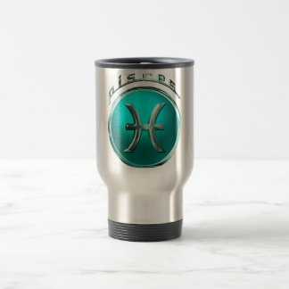 Pisces Astrological Sign Travel Mug
