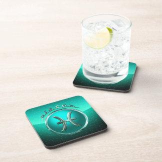 Pisces Astrological Symbol Beverage Coaster