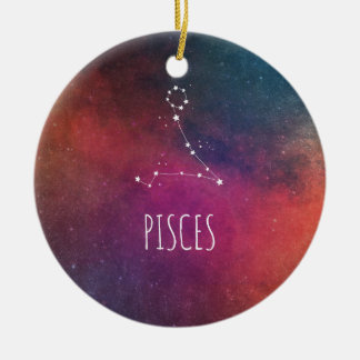 Pisces Astrology Christmas Ornament
