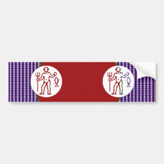 PISCES Astrology Zodiac Symbol Bumper Sticker