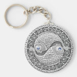 Pisces basic button key chain