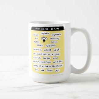 pisces basic white mug
