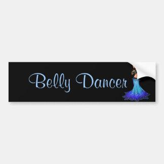 Pisces Belly Dancer Art Bumper Sticker