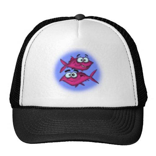 pisces cartoon trucker hats