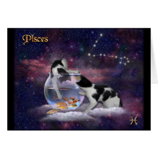 Pisces Cats Card