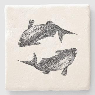Pisces Coaster Stone Coaster
