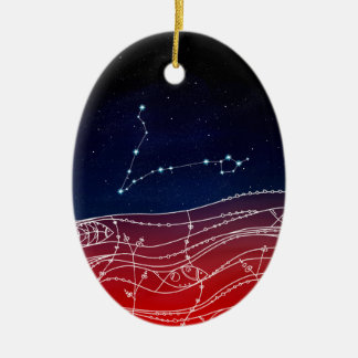 Pisces Constellation Design Christmas Ornament