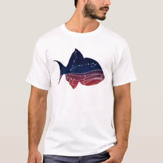 Pisces Constellation Design T-Shirt