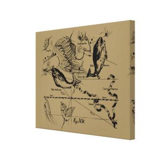 Pisces Constellation Hevelius 1690 Feb19 -March 20 Canvas Prints