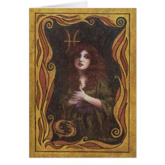 Pisces Decorative Figure Design Card