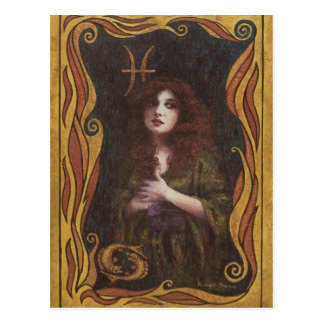 Pisces Decorative Figure Design Post Cards