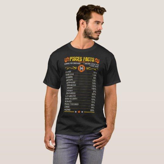 Pisces Facts Zodiac Tshirt