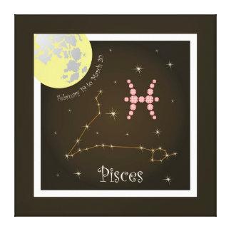Pisces February 19 to March 20 Leinwand Gespannte Galerie Drucke