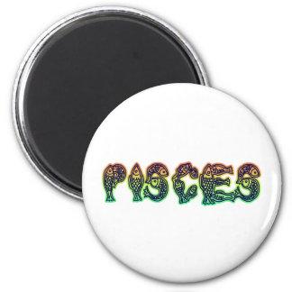 Pisces Fish 6 Cm Round Magnet