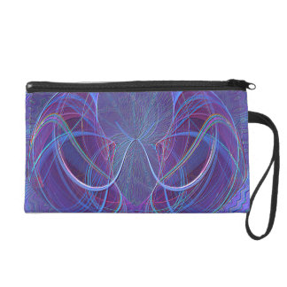 Pisces Fish Abstract Art Wristlet Clutches