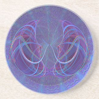 Pisces Fish Abstract Art Sandstone Coaster