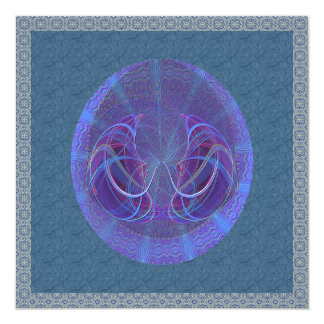 Pisces Fish Abstract Art 13 Cm X 13 Cm Square Invitation Card