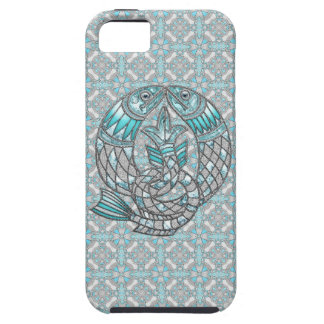 Pisces Fish Aquamarine & Silver Jewels iPhone 5 iPhone 5 Cover