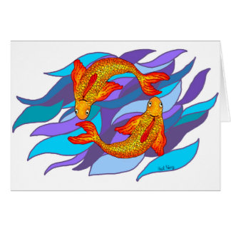 Pisces Fish Water Zodiac Sign Card