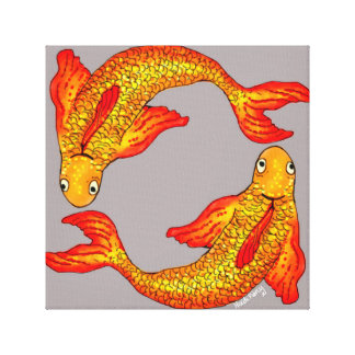 Pisces Fish Zodiac Art Canvas