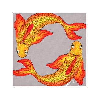Pisces Fish Zodiac Art Canvas Canvas Print