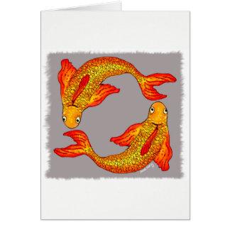 Pisces Fish Zodiac Art Card